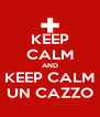 KEEP CALM AND KEEP CALM UN CAZZO - Personalised Poster A4 size