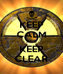 KEEP CALM AND KEEP CLEAR - Personalised Poster A4 size