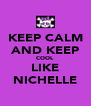 KEEP CALM AND KEEP COOL LIKE NICHELLE - Personalised Poster A4 size