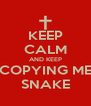 KEEP CALM AND KEEP COPYING ME SNAKE - Personalised Poster A4 size