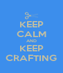 KEEP CALM AND KEEP CRAFTING - Personalised Poster A4 size