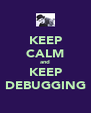 KEEP CALM and KEEP DEBUGGING - Personalised Poster A4 size