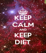 KEEP CALM AND KEEP DIET - Personalised Poster A4 size