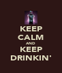 KEEP CALM AND KEEP DRINKIN' - Personalised Poster A4 size