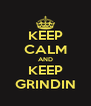 KEEP CALM AND KEEP GRINDIN - Personalised Poster A4 size