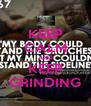 KEEP CALM AND KEEP GRINDING - Personalised Poster A4 size