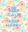 KEEP CALM AND KEEP HAPPY - Personalised Poster A4 size