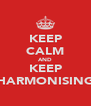 KEEP CALM AND KEEP HARMONISING - Personalised Poster A4 size