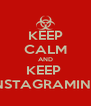 KEEP CALM AND KEEP  INSTAGRAMING - Personalised Poster A4 size
