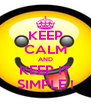 KEEP CALM AND KEEP IT SIMPLE ! - Personalised Poster A4 size