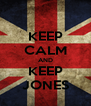 KEEP CALM AND KEEP JONES - Personalised Poster A4 size