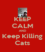 KEEP CALM AND Keep Killing Cats - Personalised Poster A4 size