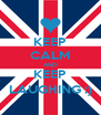 KEEP CALM AND KEEP LAUGHING :) - Personalised Poster A4 size
