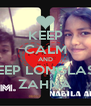 KEEP CALM AND KEEP LONGLAST ZAHNA - Personalised Poster A4 size