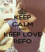 KEEP CALM AND KEEP LOVE REFO - Personalised Poster A4 size