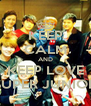 KEEP CALM AND KEEP LOVE SUPER JUNIOR - Personalised Poster A4 size