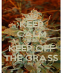 KEEP CALM AND KEEP OFF THE GRASS - Personalised Poster A4 size
