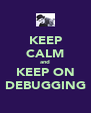 KEEP CALM and KEEP ON DEBUGGING - Personalised Poster A4 size