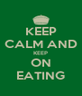 KEEP CALM AND KEEP ON EATING - Personalised Poster A4 size