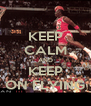 KEEP CALM AND KEEP ON FLYING - Personalised Poster A4 size