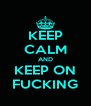 KEEP CALM AND KEEP ON FUCKING - Personalised Poster A4 size