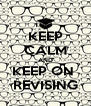 KEEP CALM AND KEEP ON  REVISING - Personalised Poster A4 size