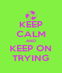 KEEP CALM AND KEEP ON TRYING - Personalised Poster A4 size