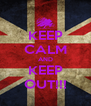 KEEP CALM AND KEEP OUT!!! - Personalised Poster A4 size