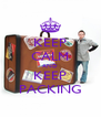 KEEP CALM AND KEEP PACKING - Personalised Poster A4 size