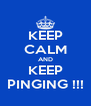KEEP CALM AND KEEP PINGING !!! - Personalised Poster A4 size