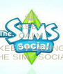 KEEP CALM AND KEEP PLAYING THE SIMS SOCIAL - Personalised Poster A4 size