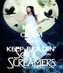 KEEP CALM AND KEEP READIN'  - Personalised Poster A4 size
