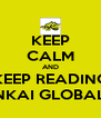 KEEP CALM AND KEEP READING NKAI GLOBAL - Personalised Poster A4 size