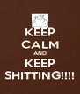 KEEP CALM AND KEEP SHITTING!!!! - Personalised Poster A4 size