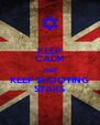 KEEP CALM AND KEEP SHOOTING STARS - Personalised Poster A4 size