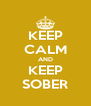 KEEP CALM AND KEEP SOBER - Personalised Poster A4 size