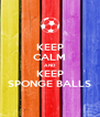 KEEP CALM AND KEEP SPONGE BALLS - Personalised Poster A4 size