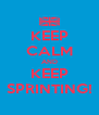 KEEP CALM AND KEEP SPRINTING! - Personalised Poster A4 size