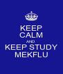 KEEP CALM AND KEEP STUDY MEKFLU - Personalised Poster A4 size