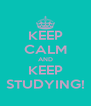 KEEP CALM AND KEEP STUDYING! - Personalised Poster A4 size