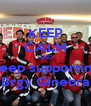 KEEP CALM AND keep supporting Brgy Ginebra - Personalised Poster A4 size