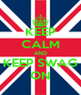 KEEP CALM AND KEEP SWAG ON - Personalised Poster A4 size