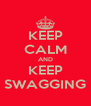 KEEP CALM AND KEEP SWAGGING - Personalised Poster A4 size