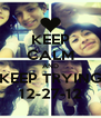 KEEP CALM AND KEEP TRYING 12-27-12 - Personalised Poster A4 size