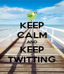 KEEP CALM AND KEEP TWITTING - Personalised Poster A4 size