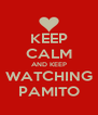 KEEP CALM AND KEEP WATCHING PAMITO - Personalised Poster A4 size