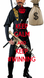 KEEP CALM AND KEEP #WINNING - Personalised Poster A4 size