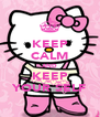 KEEP CALM AND KEEP YOUR SELF - Personalised Poster A4 size