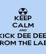 KEEP CALM AND KICK DEE DEE  FROM THE LAB  - Personalised Poster A4 size