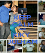 KEEP CALM AND KIKY  JULHAM - Personalised Poster A4 size